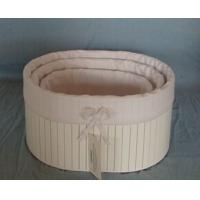 Wholesale Round White wooden basket storage box, wooden crates from china suppliers