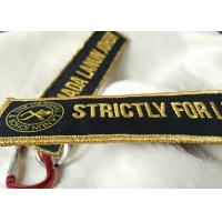 Wholesale 3D gold emboridery logo Keychains Lanyard Designs Carabiner Short Lanyards from china suppliers