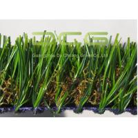 China Heavy Dtex Durable Synthetic Turf Grass For Roof With Green And Brown Color on sale
