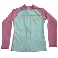 Wholesale BONZ Girls Short Sleeve Pink UV Front Zippered Rash Guard Water Jacket from china suppliers