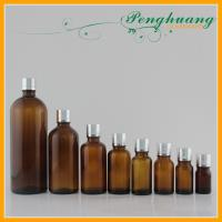 Wholesale Amber Glass Essential Oil Bottles with Screw Silver Cap 5ml - 1000ml from china suppliers