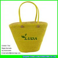 Wholesale LUDA online buy straw handbag beaded wheat straw handmade bag from china suppliers
