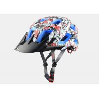 Quality New Graffiti Graphics MTB Enduro Bike Helmet with Colored EPS , Customized Graphics for sale