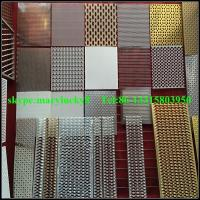 Wholesale curtain wall perforated mesh wall panels/perforated metal mesh curtian wall from china suppliers