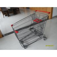Quality 210L 4 Swivel 5 Inch Caster Wire Shopping Carts With Wheels GS / ROSH for sale