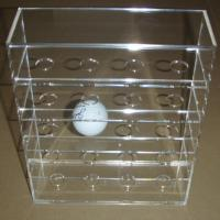 Wholesale Acrylic Clear Golf Ball Display Case Counter top Plexiglass Ball Holder  Riser from china suppliers
