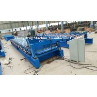 Wholesale 1000 Model Trapezoidal Shape Roofing Sheet Roll Forming Machine For 0.9mm Thickness Metal from china suppliers