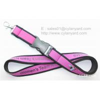 Dye sublimation neoprene neck strap with overlocked
