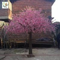 Wholesale UVG garden wedding decorations fake blossom tree with pink peach flowers 3 meters height CHR154 from china suppliers