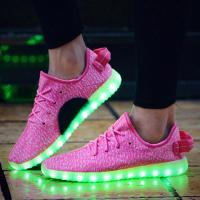 Wholesale on sale simulation led shoes,7color changing light recharging simulation 350 led yeezy shoes for party from china suppliers