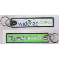 Wholesale Wideroe Crew Airplane Dash 8 Fabric Key Chain Aviation Tags from china suppliers