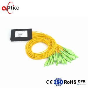 1x32 PLC Fiber Optic Splitter Splice Pigtailed ABS Module 2.0mm SC/APC Single Mode