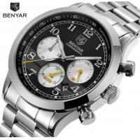 Wholesale Benyar Men Full Steel Multifunction Chronograph  Tachymeter 3 ATM Fashion Wrist Watches BY-5107 from china suppliers