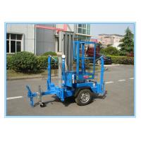 Wholesale Vertical Aluminium Alloy Truck Mounted Man Lift , Single Mast Electric Boom Lift from china suppliers