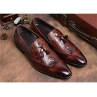 Wholesale Brogue Wingtips Toe Mens Slip On Tassel Shoes , Male Formal Shoes For Suits from china suppliers