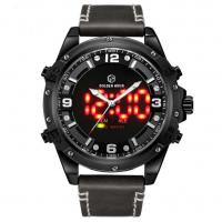 China 30 Meters Water Resistant LCD Digital Analog watches dual time zone watches For Men for sale