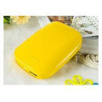Wholesale Yellow Battery Powered Hand Warmer Charger , Rechargeable Hand Warmers from china suppliers