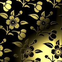 Wholesale Flower Pattern Etched Golden Colored Stainless Steel Sheets Elevator Decoration Plate from china suppliers