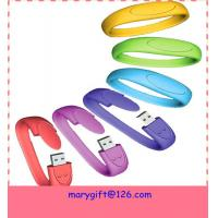 Wholesale silicone usb wristband with USB drive from china suppliers