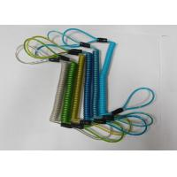 China Anti-theft Reminding Spring Steel Coiled Leashes w/Double Cord Loop Ends Custom Colours on sale
