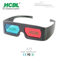 Wholesale Promotional Adult Anaglyph 3D Red Blue Glasses For 3D Movies / 3D Pictures from china suppliers