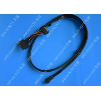 Wholesale SFF 8639 To SFF 8643 Serial Attached SCSI Cable , Black SAS 68 Pin SCSI Cable from china suppliers