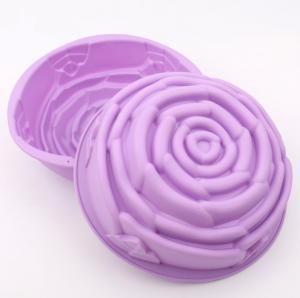 China Medium Size Silicone Cake Molds , Cake Decorating Molds FDA Approved on sale