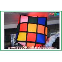 Wholesale Advertising Hanging Inflatable Colorful Cube Decoration With Led Lighting from china suppliers