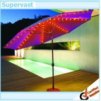 Wholesale Outdoor Patio Furniture Sets Parasol Solar Patio Umbrella For Garden from china suppliers