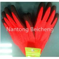 Wholesale 13Gauge Red PU Coated Glove Jonnyma Seamless Lined Dip with 5 Level PU Cut-resistance from china suppliers