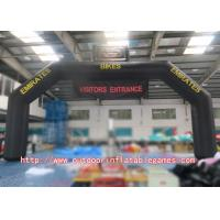 Wholesale Black Screen Printing Inflatable Arch Airtight Style For Racing Events from china suppliers