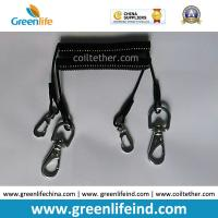 Buy cheap Flexi Tool Safety Coiled lanyard  w/Stainless Steel Snap Hooks on each end for Clipping to Your Valuable Merchandise from wholesalers