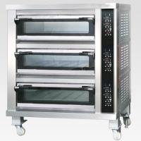 Wholesale 3 Decks 12 Trays Electric Baking Oven With Automatic Temperature Control from china suppliers