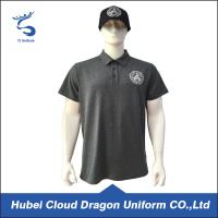 Wholesale 120 Gsm Bright Black Custom Security Polo Shirts , Short Sleeve Polo Shirt from china suppliers