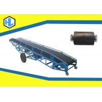 Wholesale Blue Color Troughed Automatic Belt Conveyor , Bulk Material Handling Conveyors from china suppliers