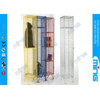 Single Heavy Duty Wire Display Stands Mesh Lockers For Drying Wet Clothing