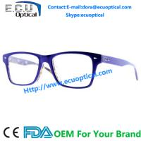 Wholesale Acetate glasses eyewear fashionable full rim metal optical eyewear optical glasses frame not free samples made in china from china suppliers