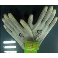 Wholesale Gray Polyester PU Coated Glove Anti-static with Strong abrasion performance from china suppliers