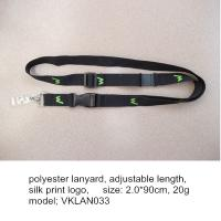 Wholesale Cheap imprinted polyester neck lanyard, simple flat polyester lanyard with badge holder from china suppliers
