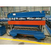 Wholesale PLC Frequency control roofing sheet roll forming machine with 18 mm thickness midel plate from china suppliers