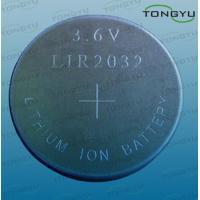 Wholesale LIR2032 Lithium Coin Cell battery 45mAh , Lithium rechargeable Button Battery 3.6V from china suppliers