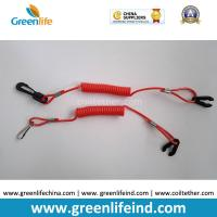 Wholesale Safety Jet Ski Floating Standard Red Coil Ripcords w/Plastic Hook&Key from china suppliers