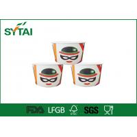 China Custom Logo Paper Ice Cream Cups / Biodegradable paper ice cream bowls Character Design on sale