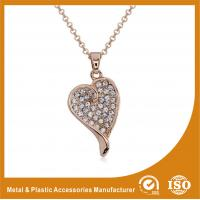 Wholesale OEM / ODM Metal Chain Necklace For Women Heart Pendant Necklace from china suppliers