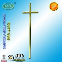 Wholesale Antique brass gold color zamak crucifix cross , coffin fittings D017 metal coffin lid decoration size:  57 x 16.5 cm from china suppliers
