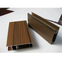Wholesale Wooden Grain Color Aluminum Door Profile for Slid Hung Door with Punching GB/T 5237 from china suppliers