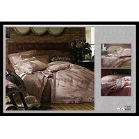 Wholesale 100 % Satin Cotton Brown Decorative Jacquard Polyester Bed Sets Queen from china suppliers