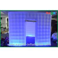 Wholesale Silver Wedding LED Inflatable Photo Booth With UL Blower L3*W2*H2.3M from china suppliers