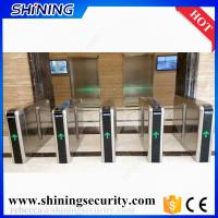 Quality automatic  card reader flap turnstile gates for office entrance for sale