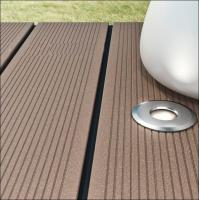 Wholesale composite decking with led light inside /garden grey decking with light from china suppliers